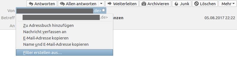 Spam Mails blockieren