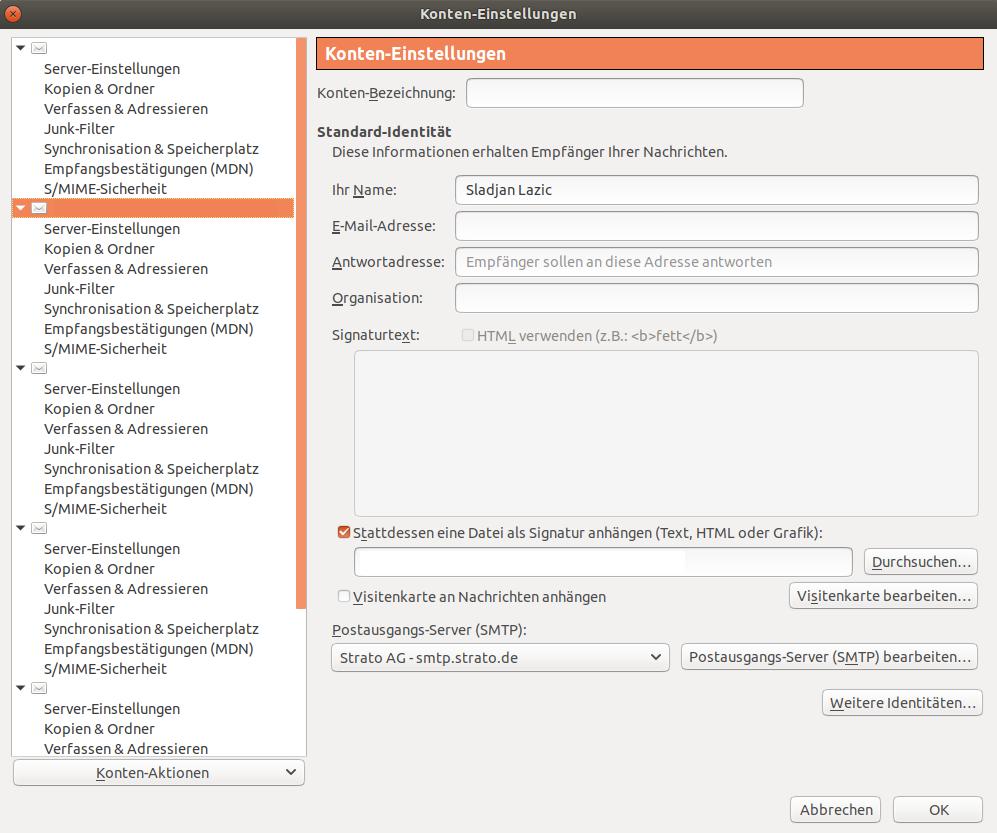 Mozilla Thunderbird Signatur einrichten