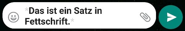 WhatsApp fett schreiben